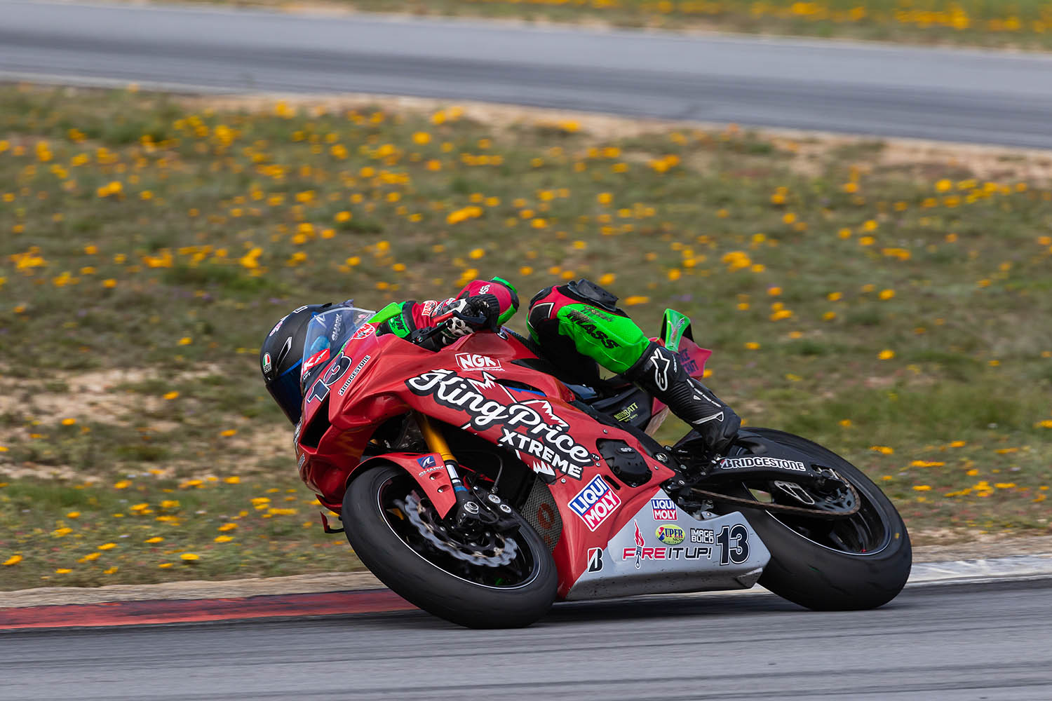 Dino Iozzo won the SuperSport 600 class in the second heat
